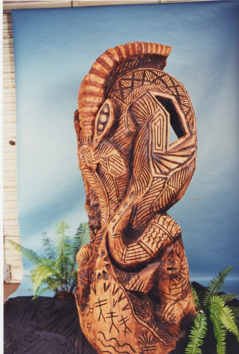 Abstract Redwood Sculpture Image