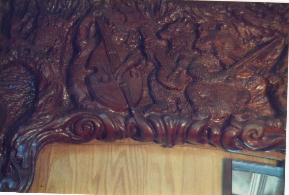 Eureka Tourist Trolley Interior bas relief sculpture detail 002 - Image
