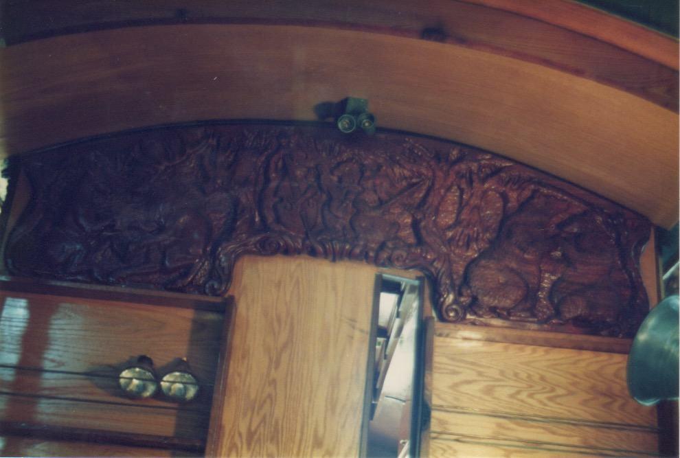 Eagle House Victorian Inn Eureka,CA Tourist Trolley - Interior bas relief sculpture detail 001 - Image