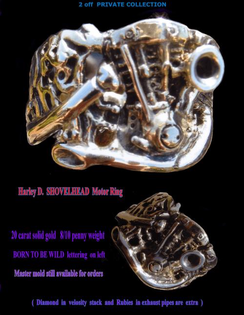Gold Harley Davidson Shovelhead Motor RIng